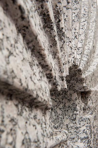 Granite Millstone stock photo