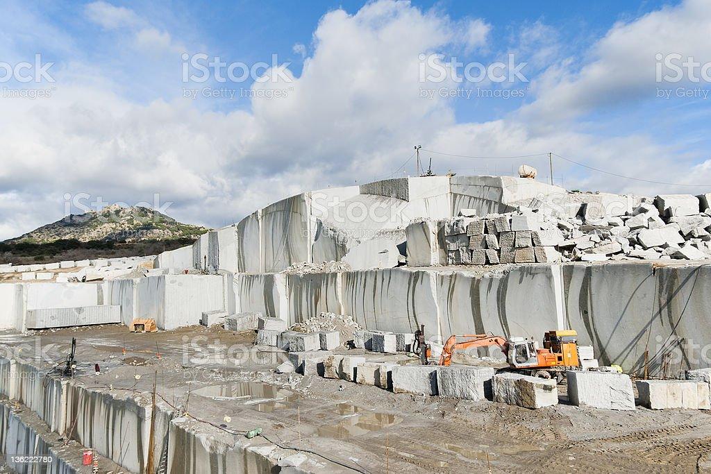 granite quarry royalty-free stock photo