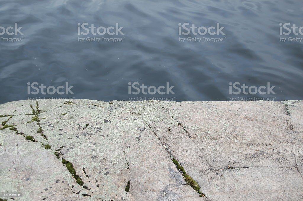 Granite rock and water royalty-free stock photo