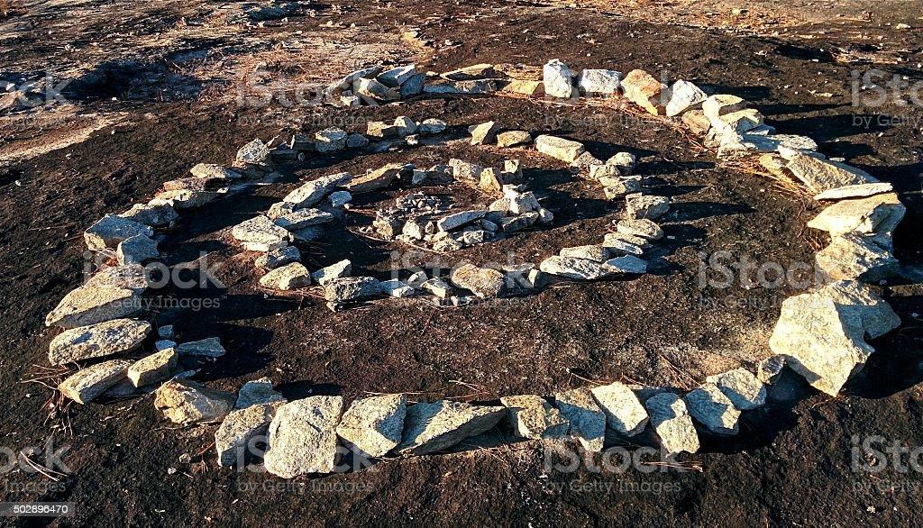 Granite Spiral stock photo