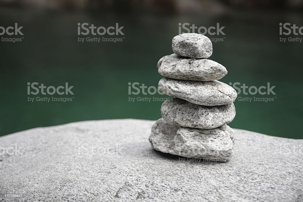 Granite Stone Tower stock photo
