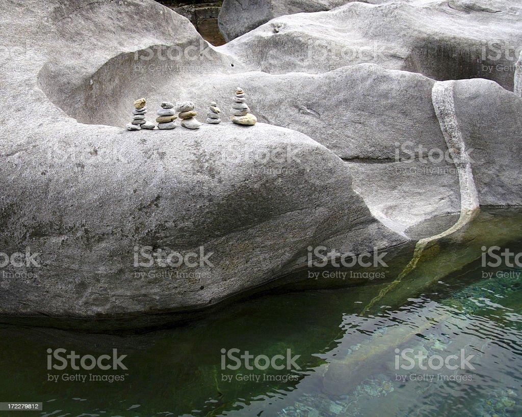 Granite Stone Towers royalty-free stock photo