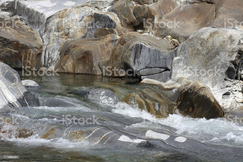 granite stones at a river stock photo