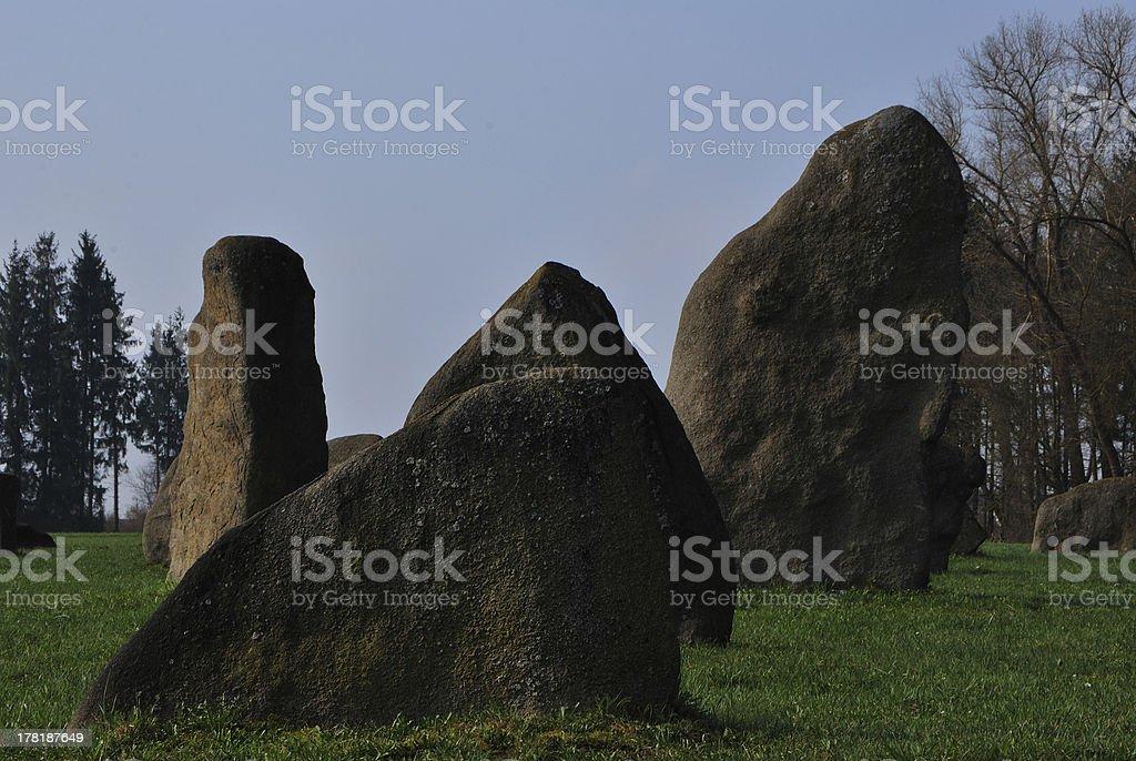 granite stones with trees royalty-free stock photo