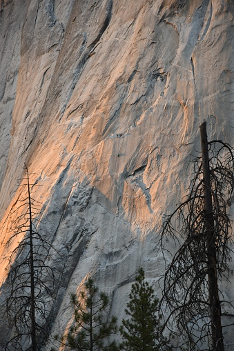 Granite Wall With Climbing Team Stock Photo - Download Image Now