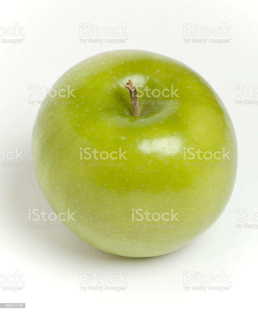 Grannie Smith Apple on White Background stock photo