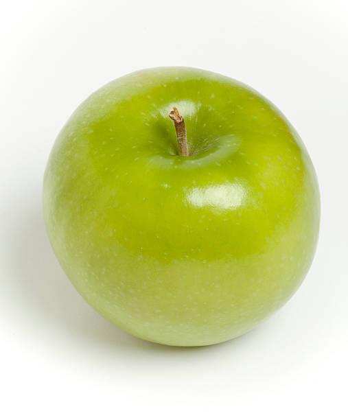 Grannie Smith Apple on White Background stock photo