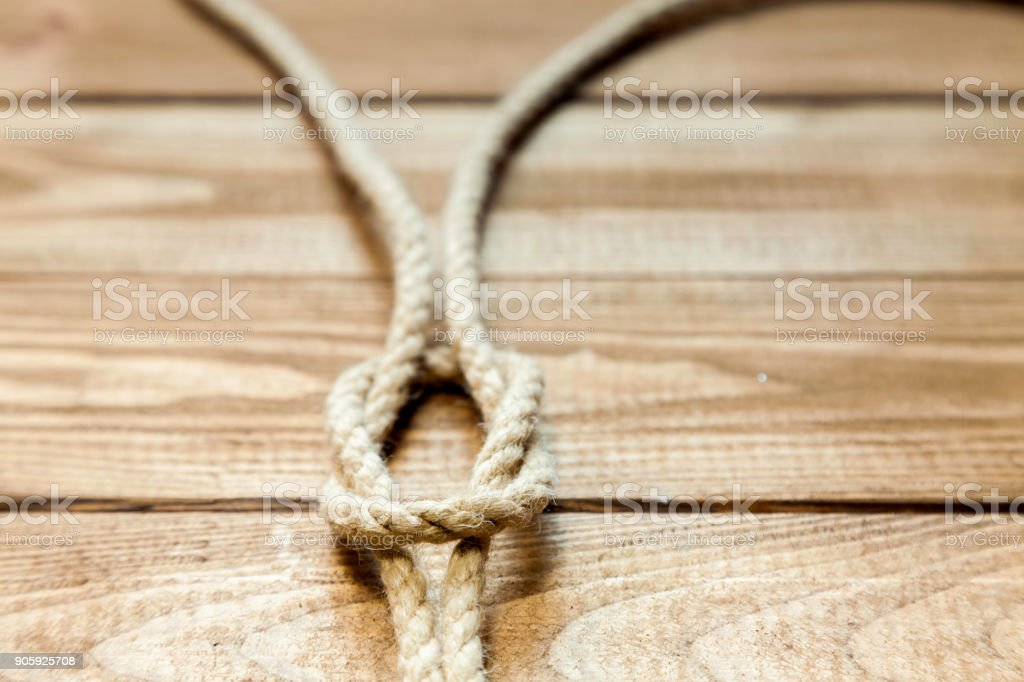 granny knot with blur stock photo