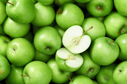 istock Granny smith apple background 478157670
