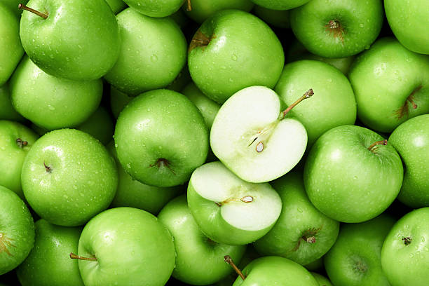Granny smith apple background stock photo