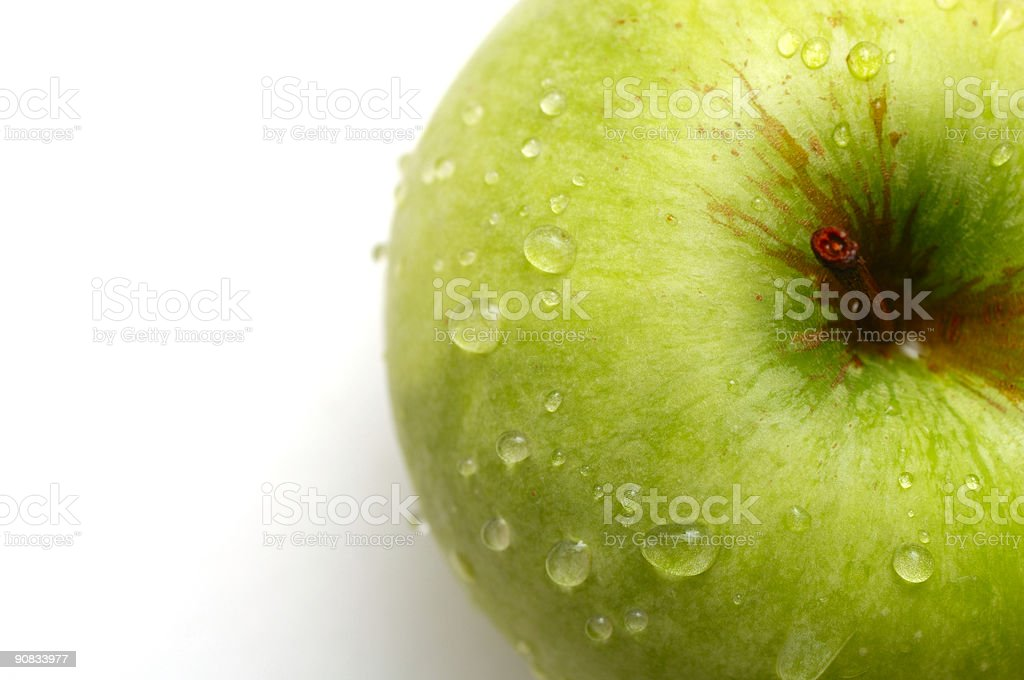 Granny smith apple from above royalty-free stock photo