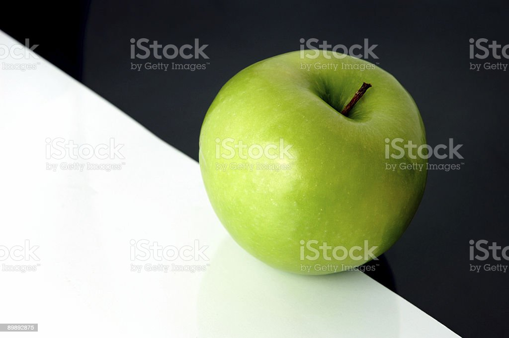 Granny Smith apple on artistic background royalty-free stock photo