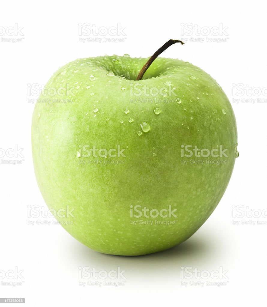 Granny Smith Apple (Clipping Path) royalty-free stock photo