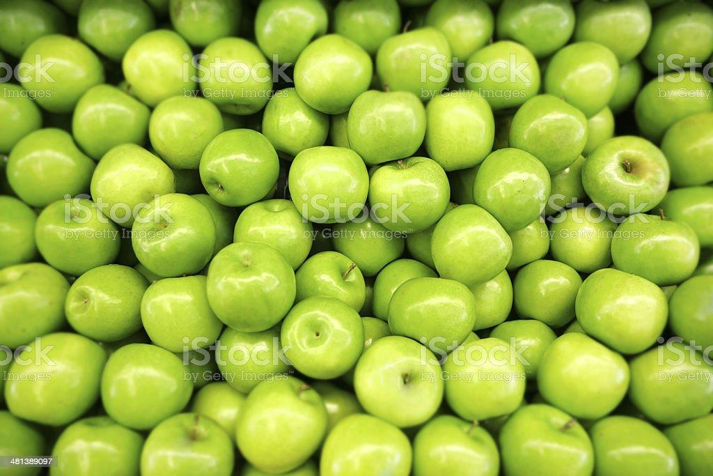 Granny Smith Apples Green apples.  Shallow DOF Adult Stock Photo