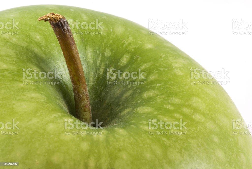 Apfelsorte Granny smith sich in der Nähe. Lizenzfreies stock-foto