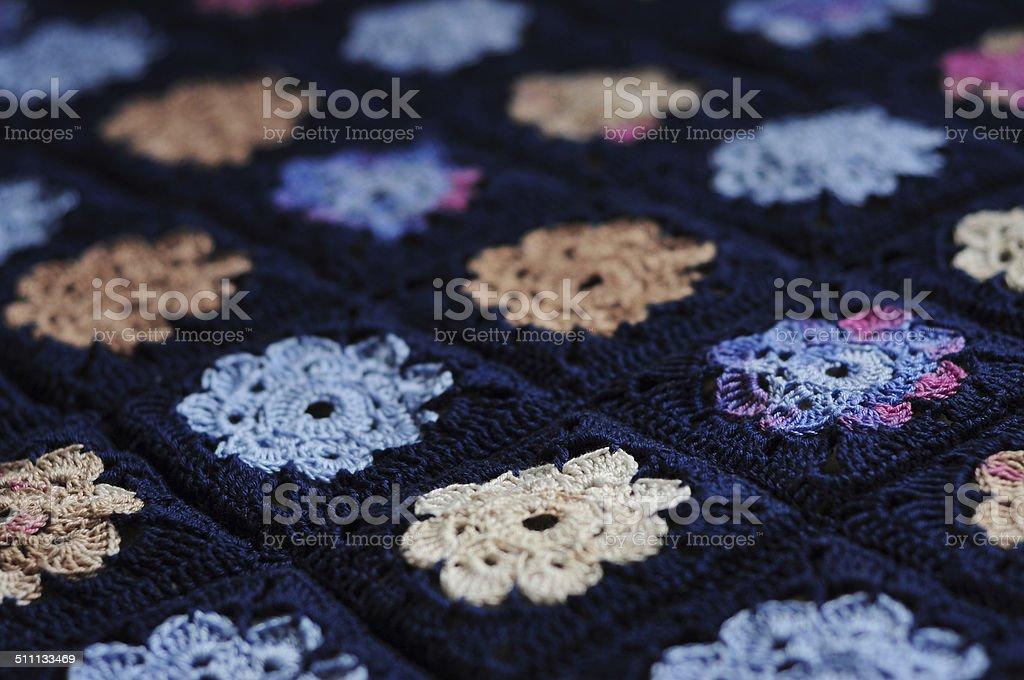 Apfelsorte Granny Square Blume Decke Stock Fotografie Und Mehr
