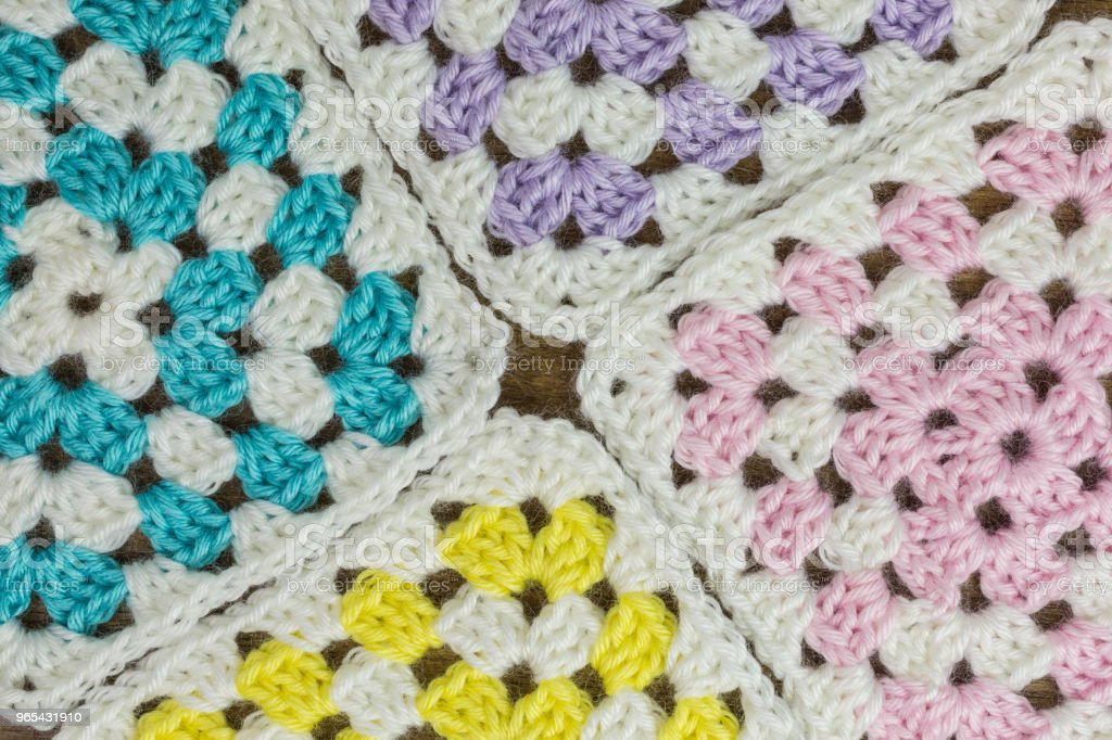 granny squares background royalty-free stock photo