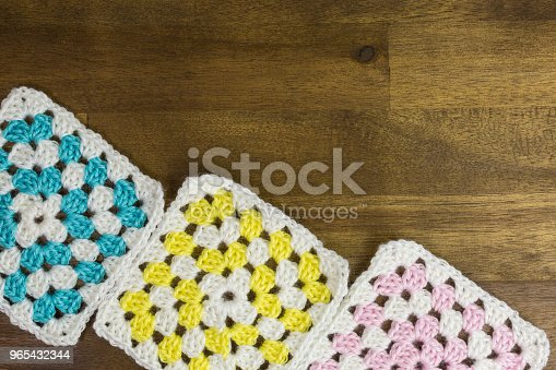Granny Squares Background Stock Photo & More Pictures of Ball Of Wool
