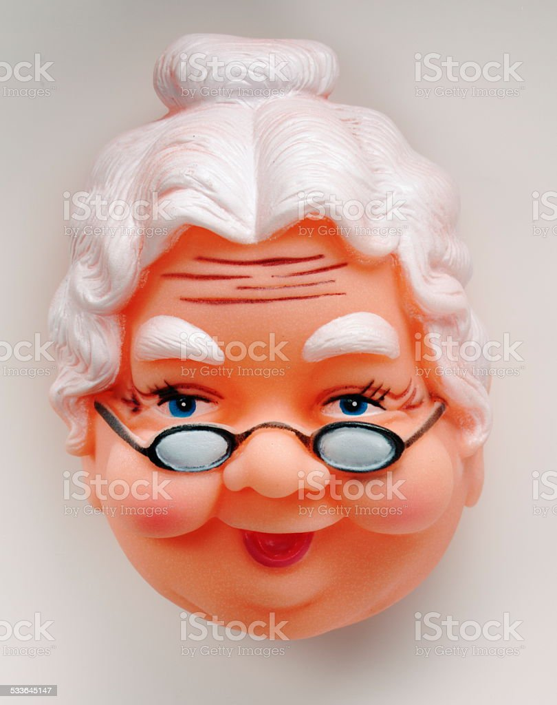 Granny With Glasses stock photo