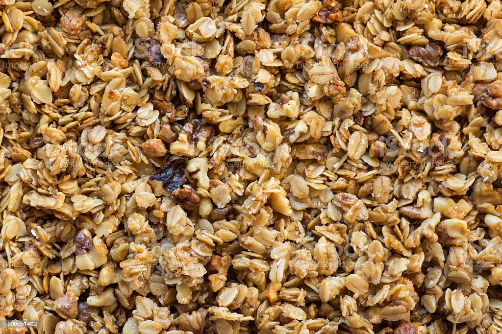 Granola background stock photo