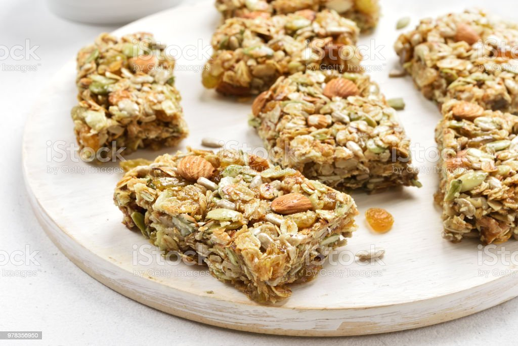 Granola Bars Healthy Snack Stock Photo - Download Image Now