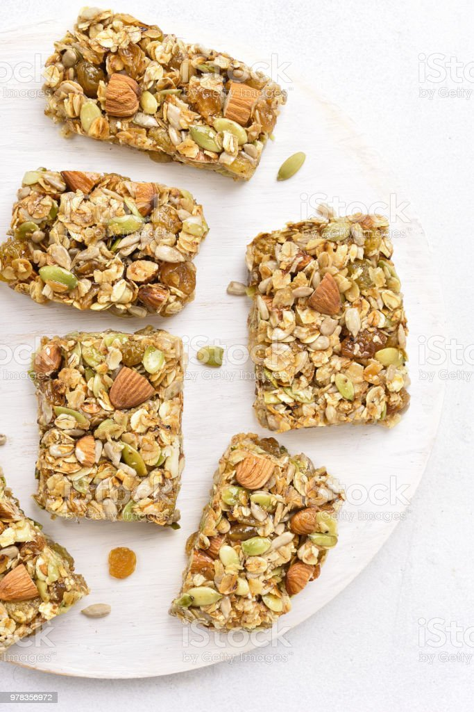 Granola Bars Healthy Snack Stock Photo & More Pictures of