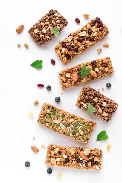 Granola bars stock photo