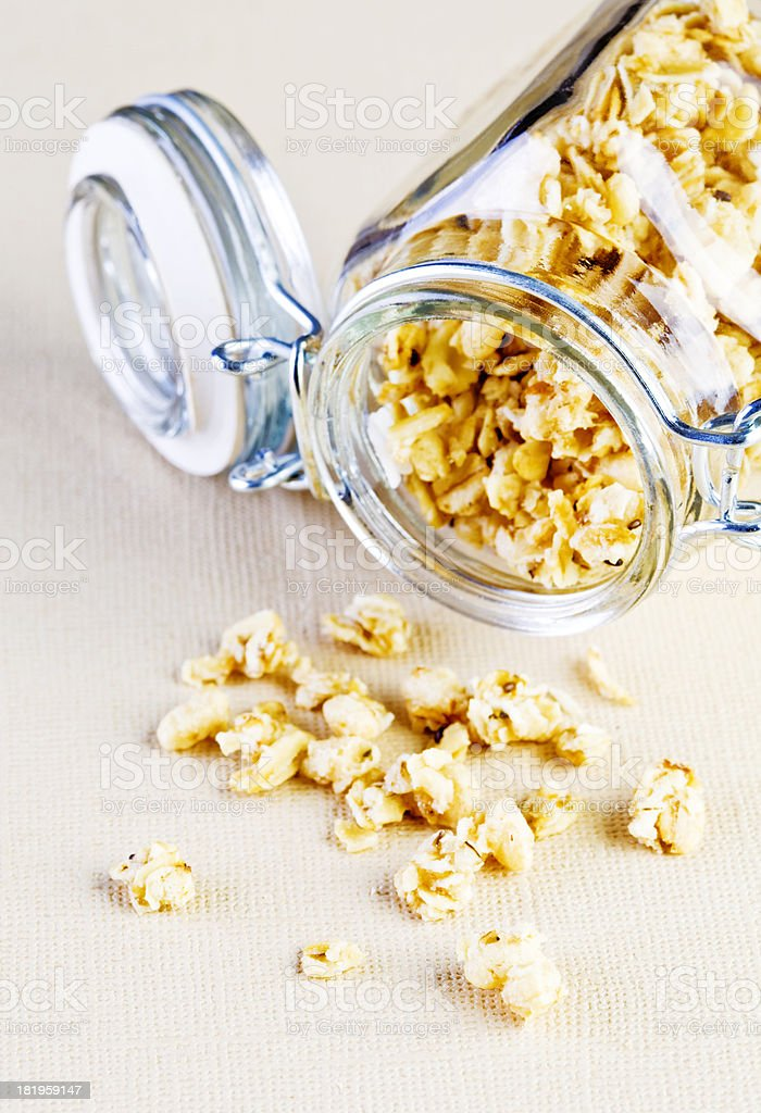 Granola clusters royalty-free stock photo
