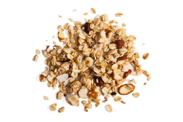 granola from above - muesli imagens e fotografias de stock