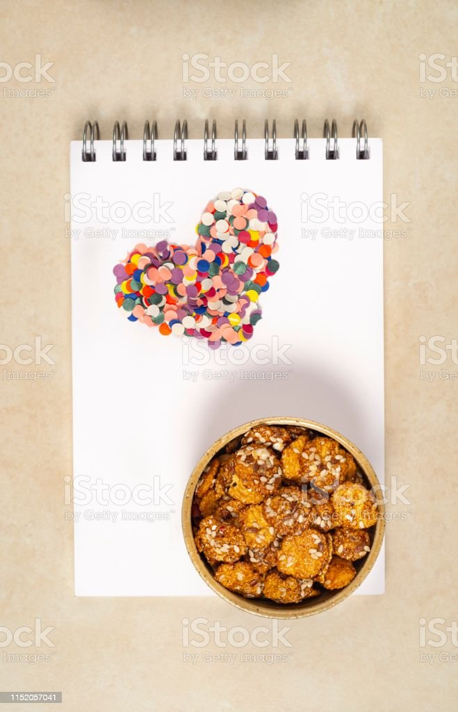 High angle view of conceptual healthy food.