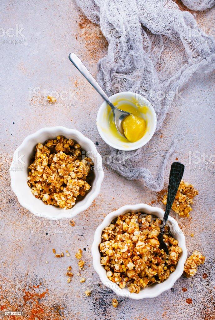granola stock photo