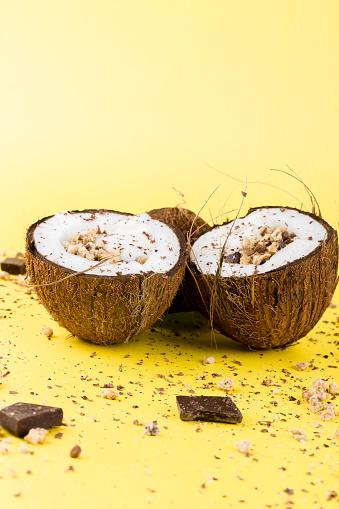 코코넛에서 초콜릿 그 라 놀라 0명에 대한 스톡 사진 및 기타 이미지