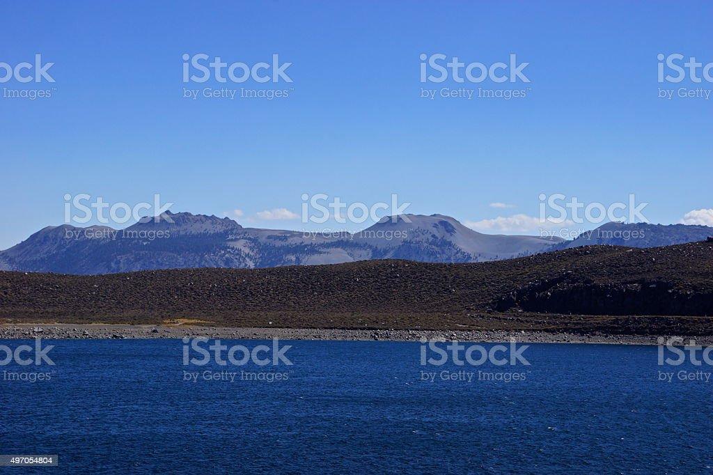 Grant Lake Peaks stock photo