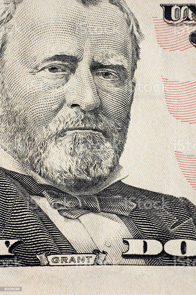 Grant on a $50 bill royalty-free stock photo