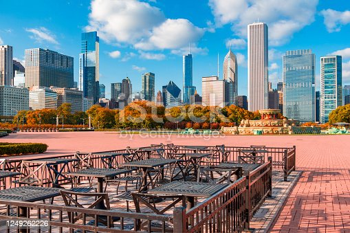 852738732 istock photo Grant Park in autumn with the Chicago skyline, Ill 1249262226
