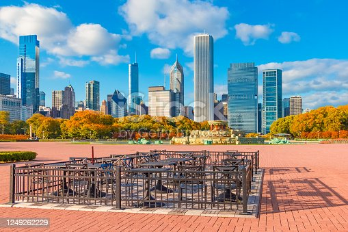852738732 istock photo Grant Park in autumn with the Chicago skyline, Ill 1249262229