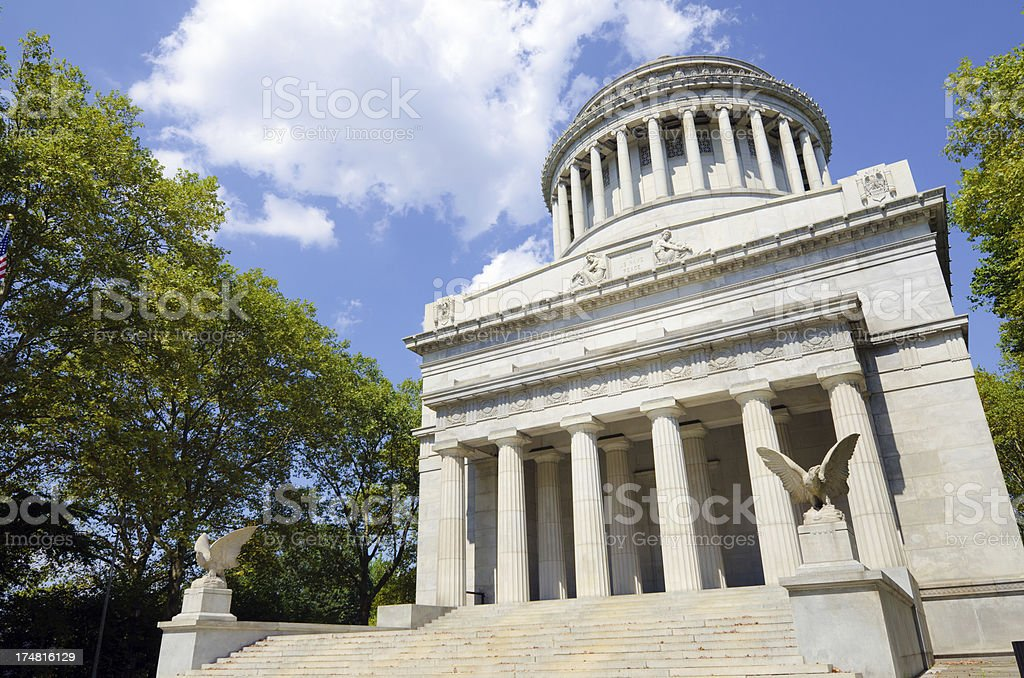 Grant's Tomb at Morningside Heights in New York City royalty-free stock photo
