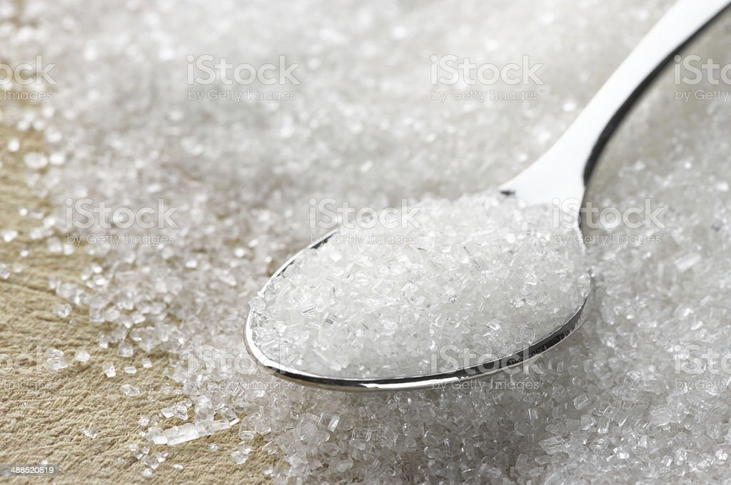 Granulated sugar stock photo