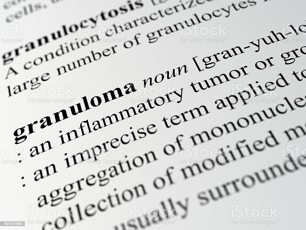 granuloma stock photo