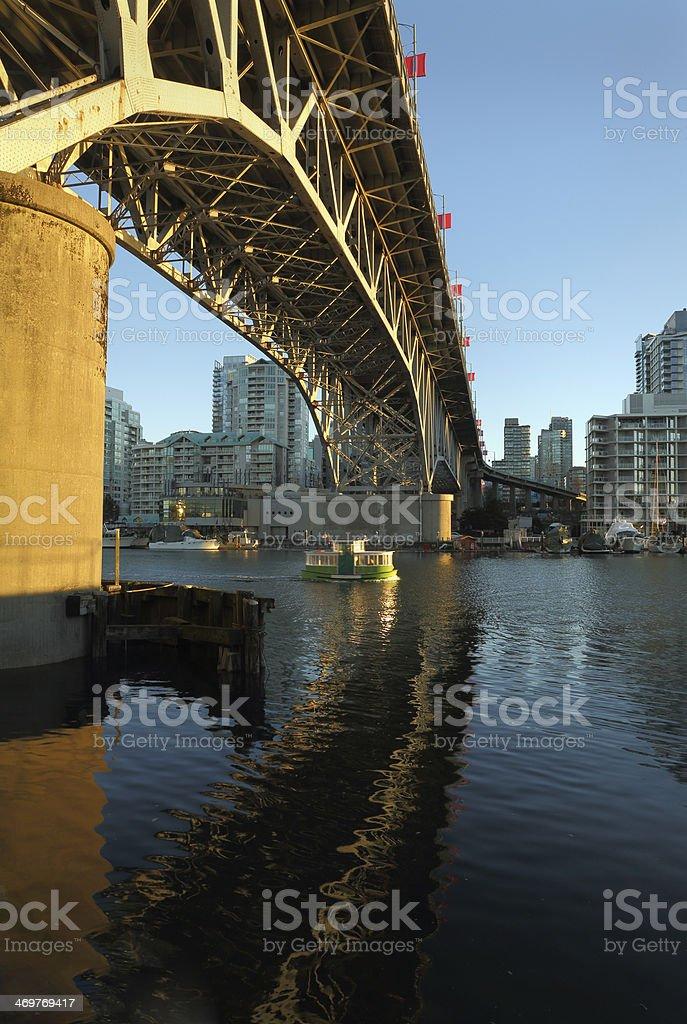 Granville Bridge, False Creek, Vancouver stock photo