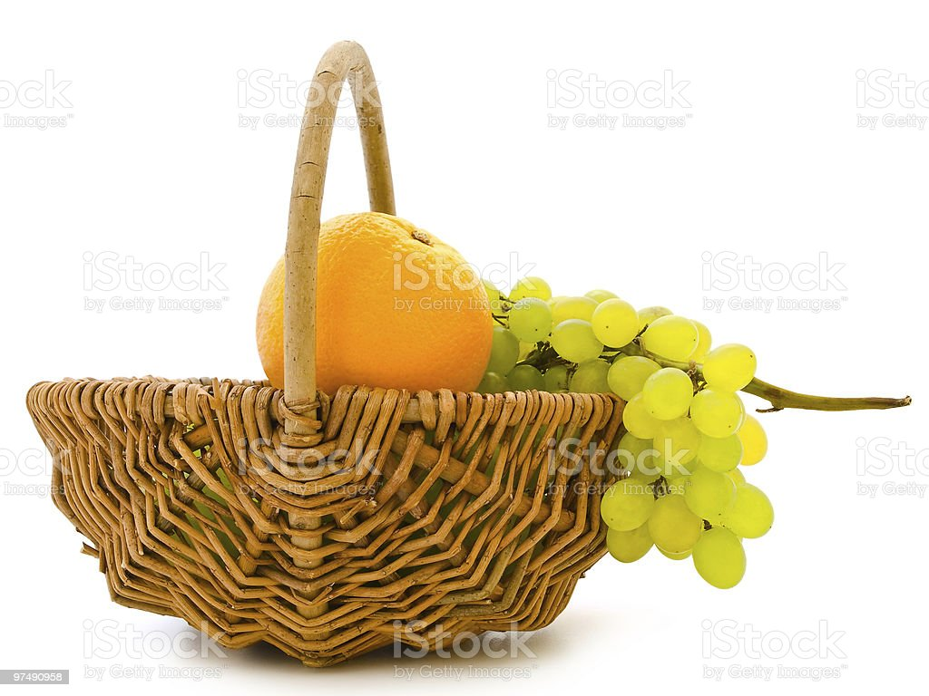 grape and orange royalty-free stock photo