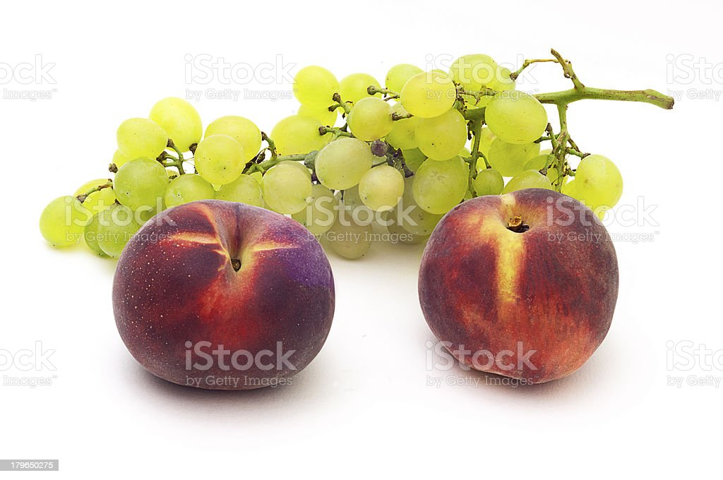 grape and peach royalty-free stock photo