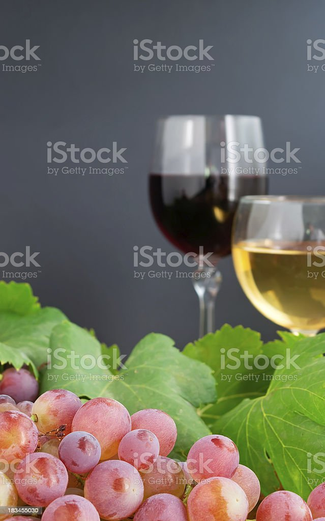 grape and two glasses royalty-free stock photo