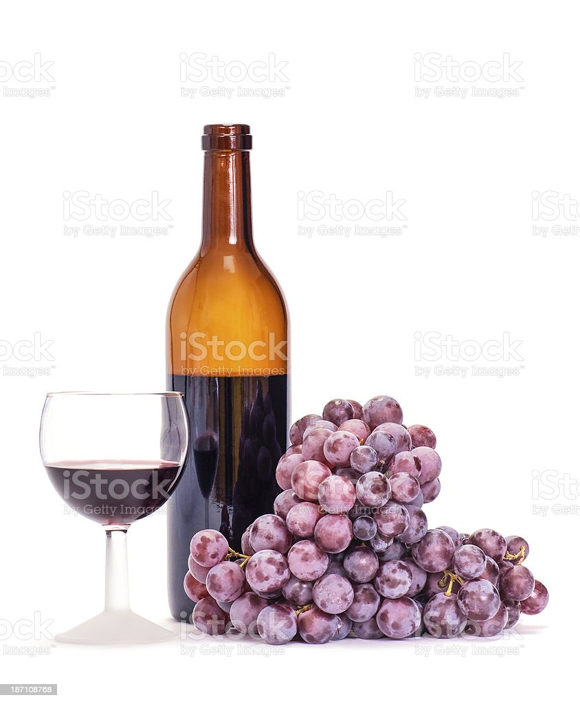 Grape and Wine royalty-free stock photo