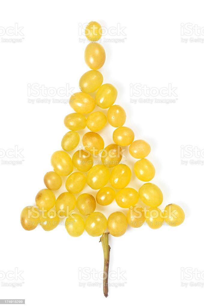 Grape christmas tree royalty-free stock photo