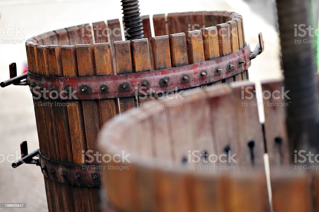 Grape crushing machine royalty-free stock photo