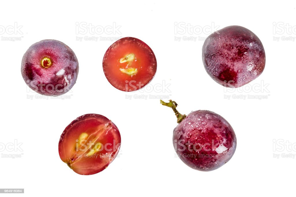 Grape isolated on white food royalty-free stock photo