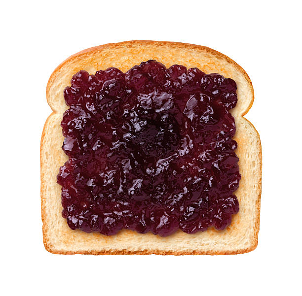 Grape Jelly on Toast stock photo