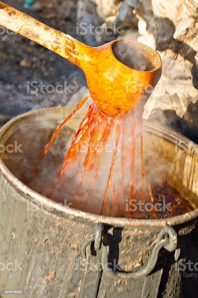 grape molasses stock photo