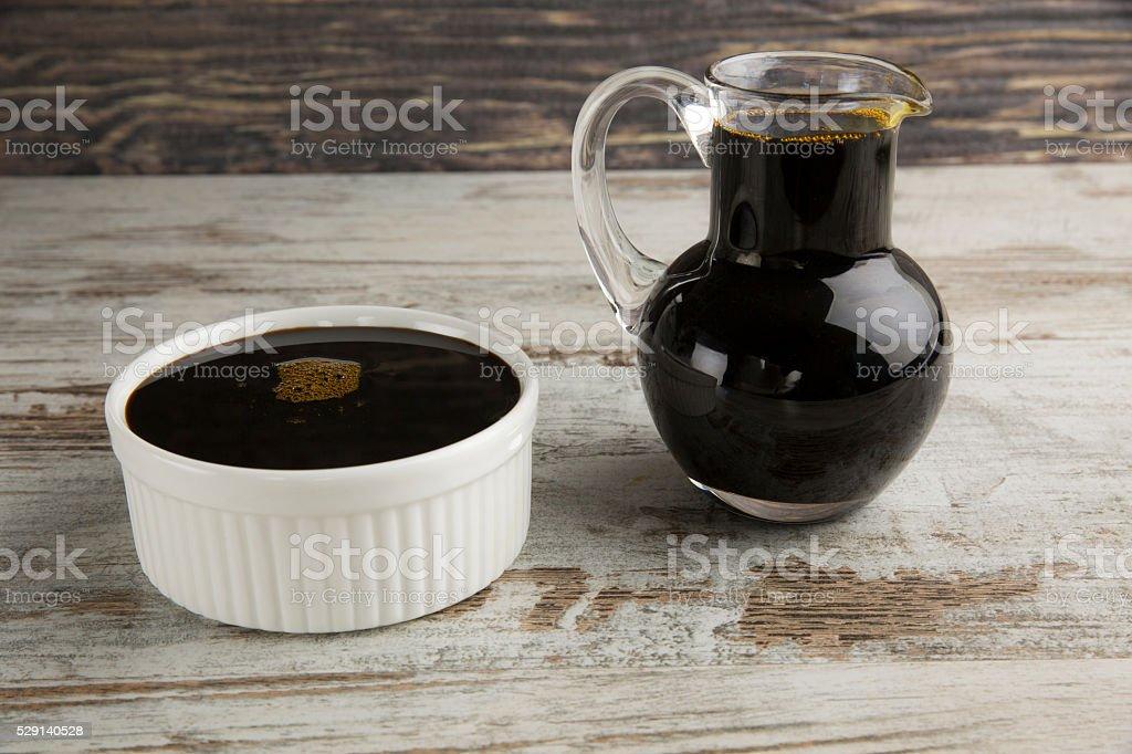 Grape molasses. stock photo
